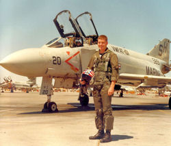 1stLt Gary Smith at MCAS Yuma Az (1980) going through F-4J training